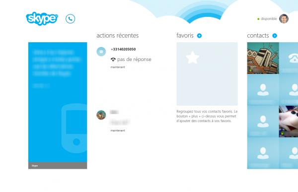 application windows 8 de la semaine skype. Black Bedroom Furniture Sets. Home Design Ideas