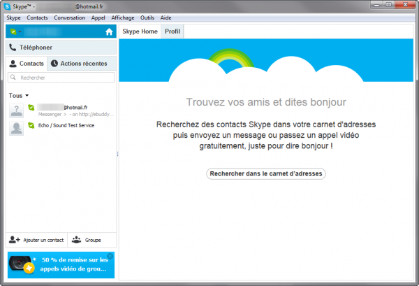 Vos contacts MSN dans Skype