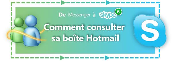 De MSN à Skype: consulter sa boîte Hotmail