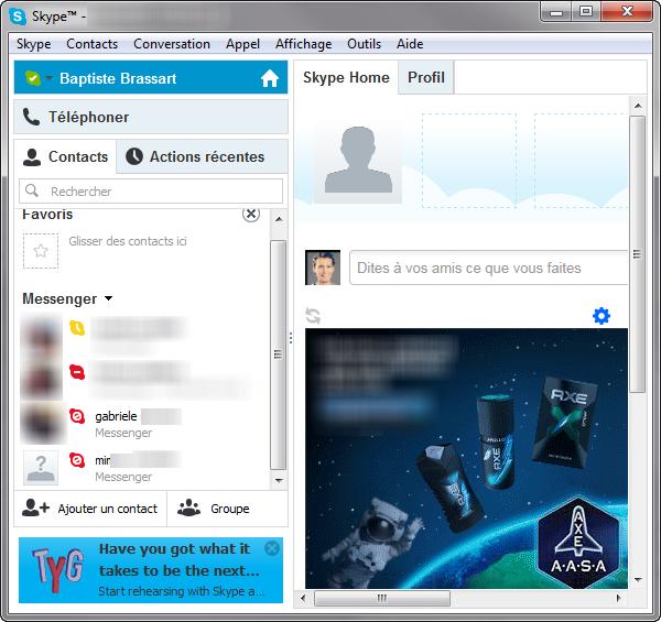 Contacts MSN bloqués dans Skype