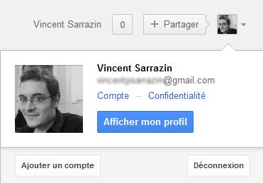 gestion du compte google