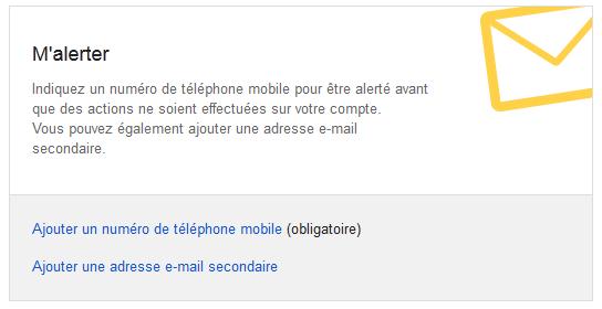 gestionnaire compte inactif google - alertes personnelles