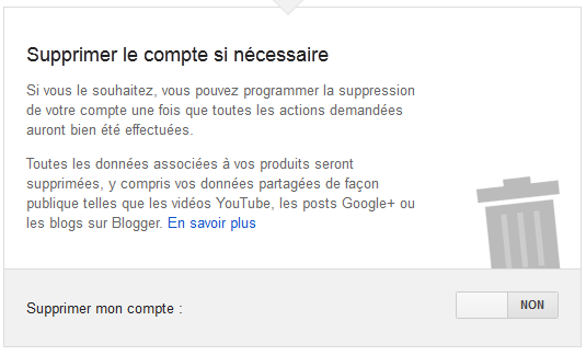 09 gestionnaire compte inactif google - suppression informations