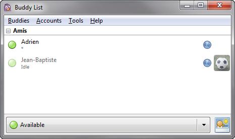 Connecté à MSN en passant par Pidgin