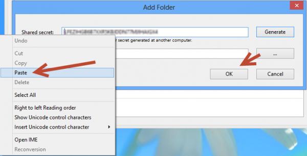Synchronisation des dossiers BitTorrent Sync