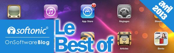 Apps, logiciels, jeux: nos coups de cœur d'avril 2013