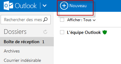 Guide Outlook.com : Nouveau Message