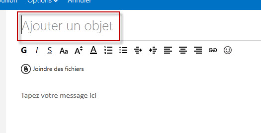 Guide Outlook.com : Ajouter Objet