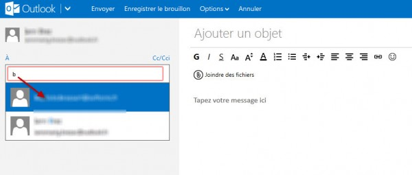 Guide Outlook.com : suggestions Adresses