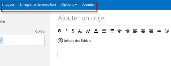 Guide Outlook.com :  Envoyer Mail