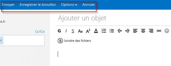 Guide Outlook.com :  Envoyer Mail