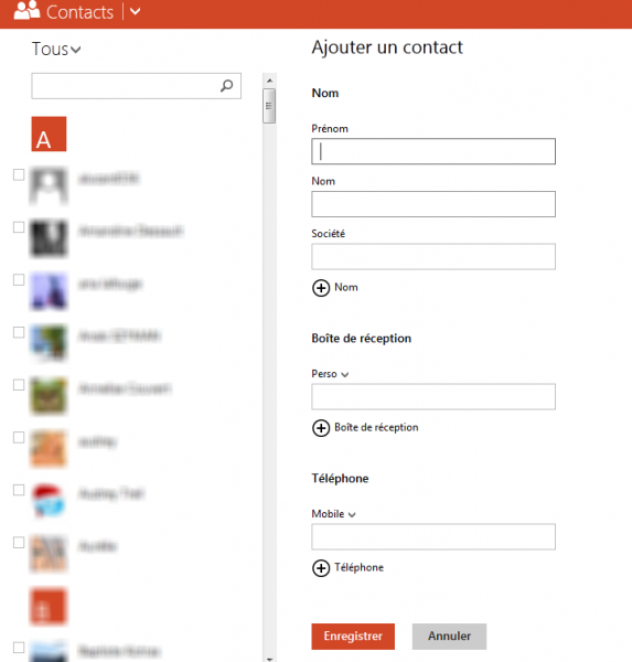 outlook ajouter contact