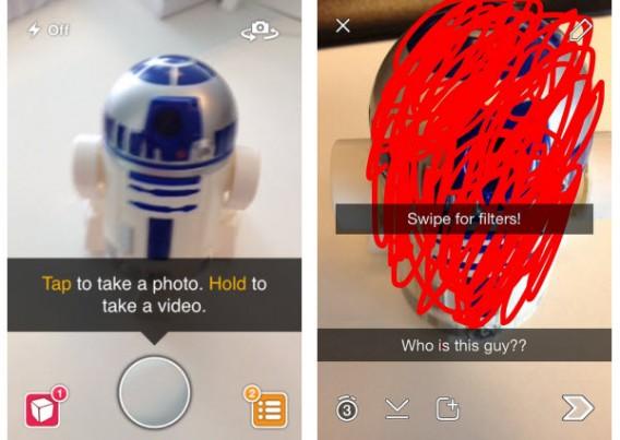 Snapchat inviare una foto