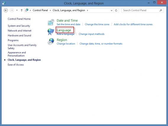 changer parametres langue Windows 8