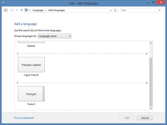 ajouter langue Windows 8