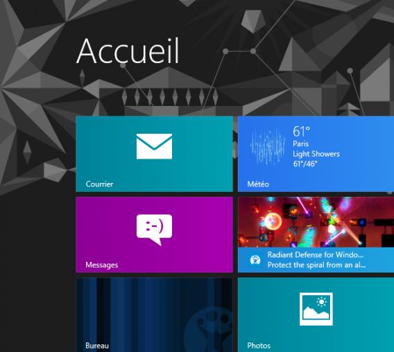 Windows 8 en français