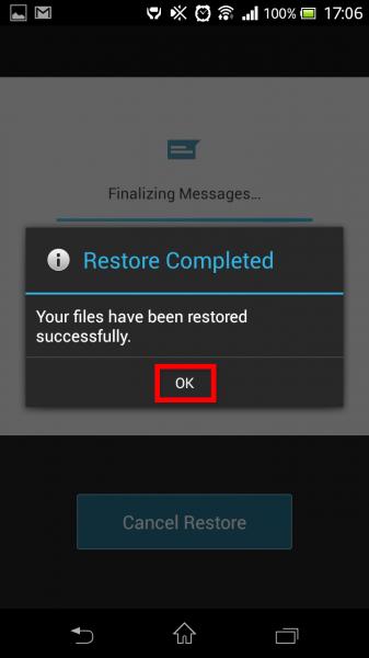 Recuperação completa no GCloud Backup