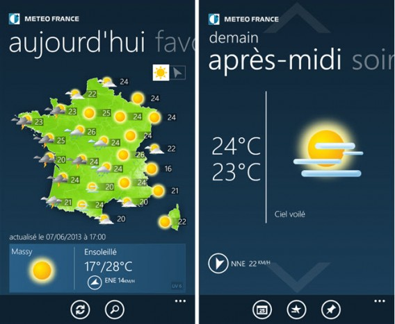 Application Météo-France