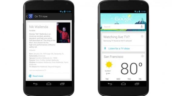 Une mise à jour de Google Now propose de la TV en live et de la musique en streaming