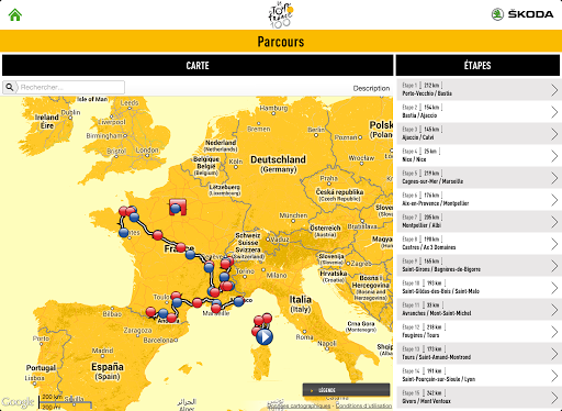 Application officielle Tour de France 2013