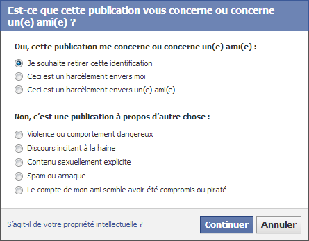 Raisons enlever le tag Facebook Graph Search