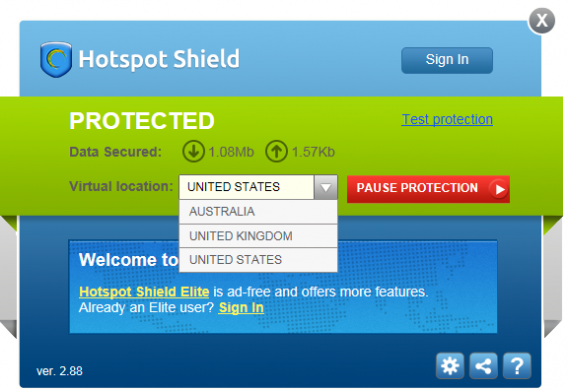 Solution VPN avec HotSpot Shield