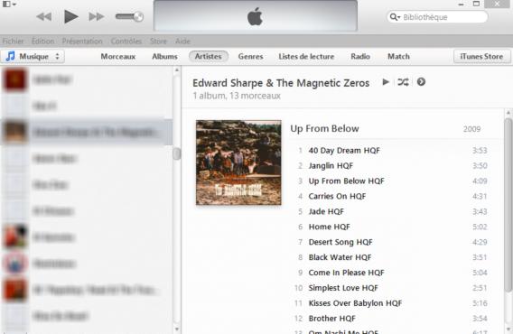 Ouvrir iTunes
