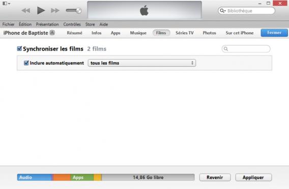 Synchronisation iPhone iTunes