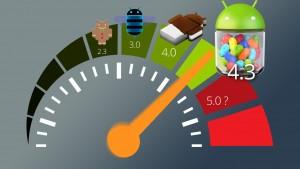 Banc d'essai: Android 4.3 face aux autres versions Android