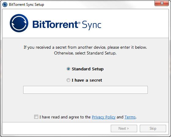 BitTorrent-Sync-Standard-Setup