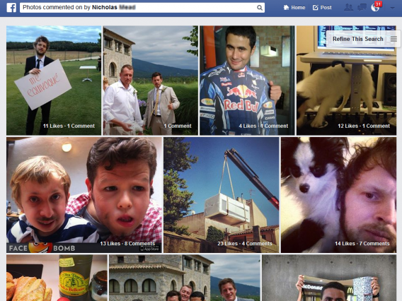 Facebook Graph Search Rechercher des photos