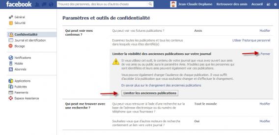 Limiter la visibilité Facebook Graph Search