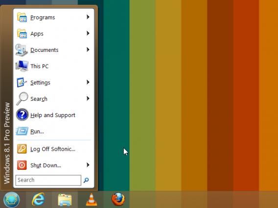 Classic Shell dans Windows 8.1