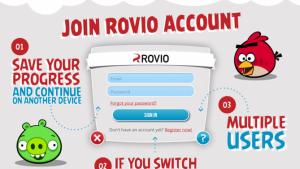 Rovio lance ses comptes en ligne pour sauvegarder vos parties d'Angry Birds et The Croods
