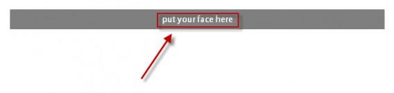 Créer un GIF animé : cliquez sur le bouton Put your Face Here