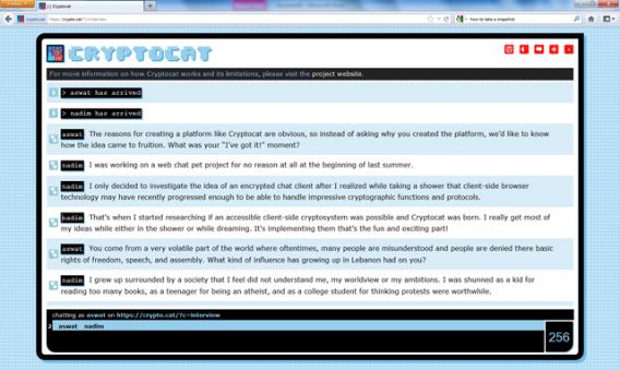 Cryptocat, une extension pour Firefox qui permet de chatter avec uns système de chiffrement puissant