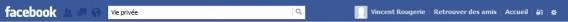 Barre de recherche Facebook