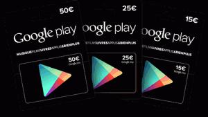 Des cartes cadeau Google Play disponibles chez Carrefour!