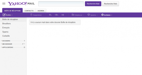 yahoo mail interface