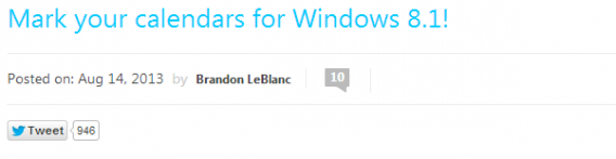 Date de sortie Windows 8.1