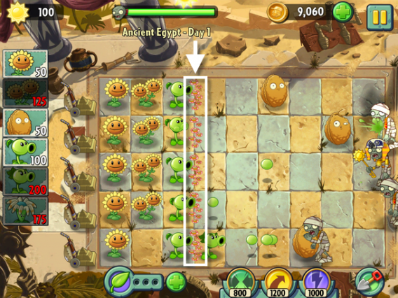 plants vs zombies 2 fleurs