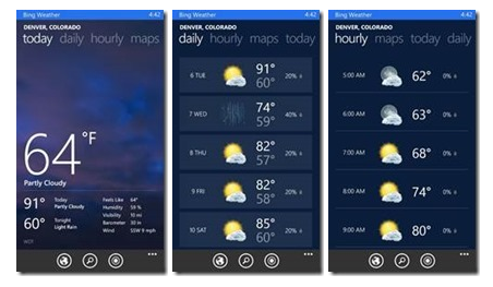 Weather Bing Apps