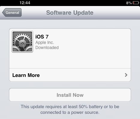 iOS 7 installer