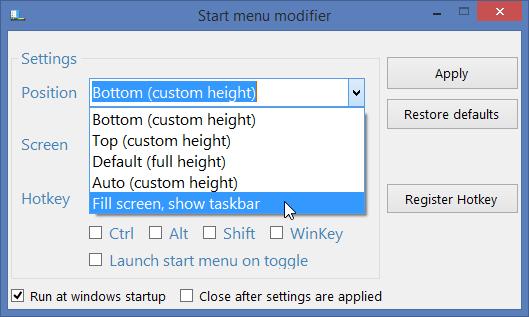 Start Menu Modifier 01