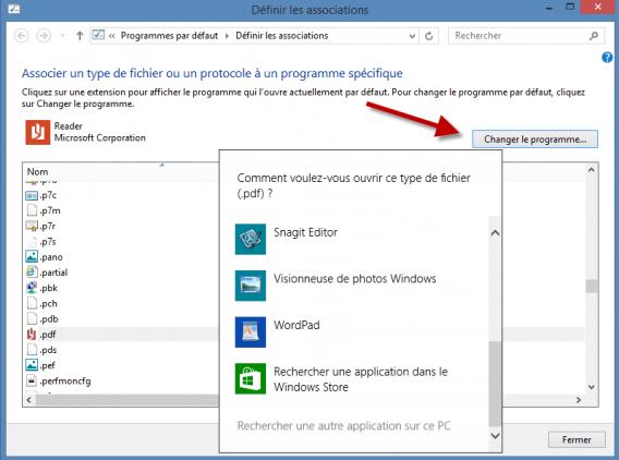 Associer fichier Windows 8.1