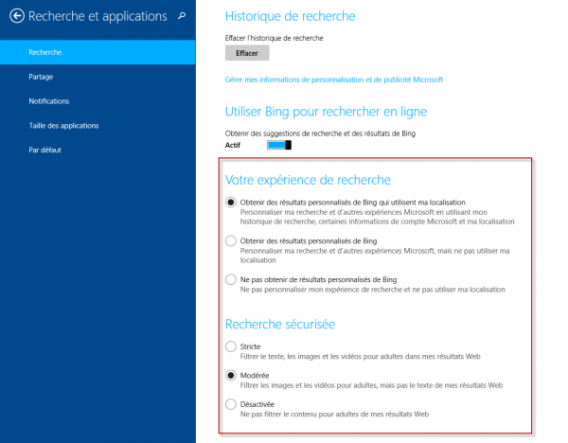 Options Bing
