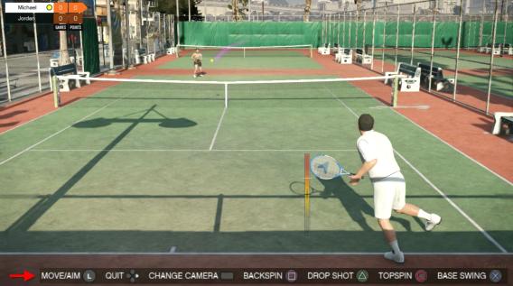 GTA 5 Tennis mini-jeu