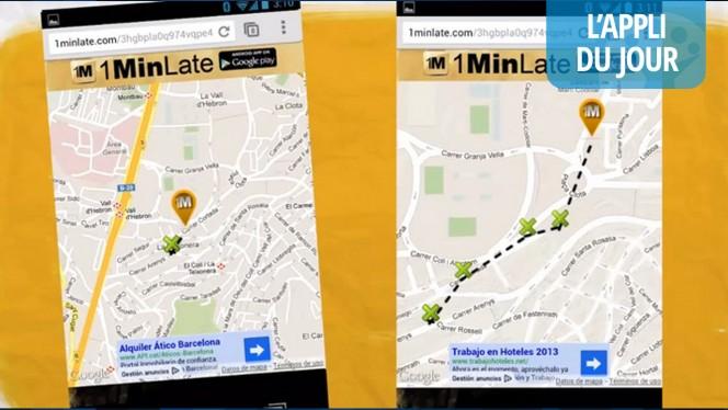 L'appli du jour : 1minLate pour partager sa localisation en temps réel (Android)