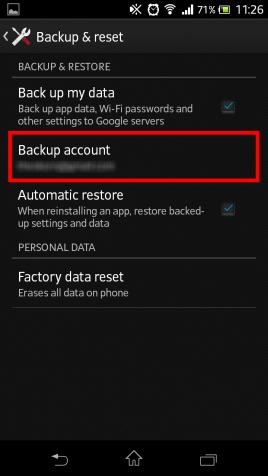 Android KitKat 4.4 backup