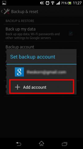Android KitKat 4.4 sauvegarde